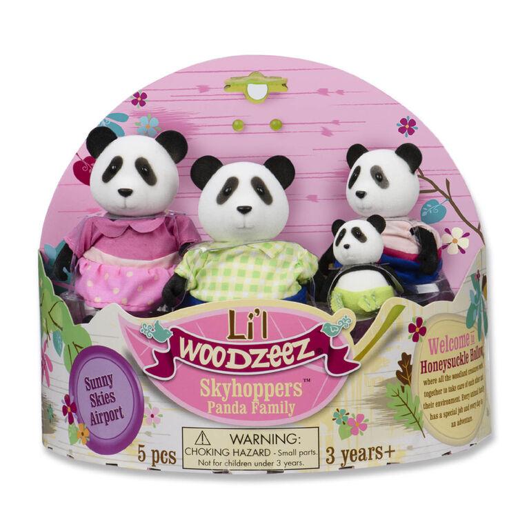 Skyhopper Panda, Li'l Woodzeez, Ensemble de petites figurines de pandas