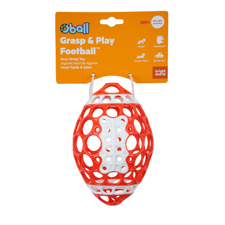 Grasp & Play Football Easy-Grasp Toy - Red/White