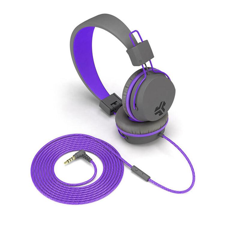 JLab Audio JBuddies Over Ear Headphones Purple/Gray
