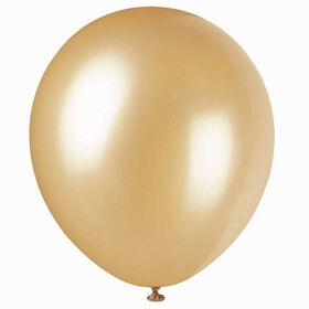 """12"""" Latex Balloons, 8 Pieces - Gold"""