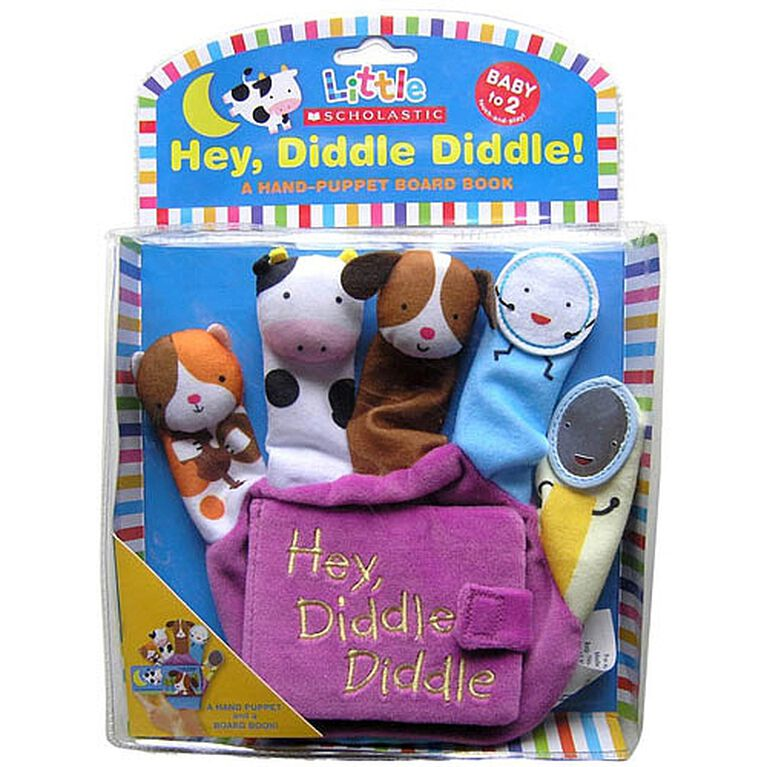 Hey Diddle Diddle Finger Puppet Book - English Edition