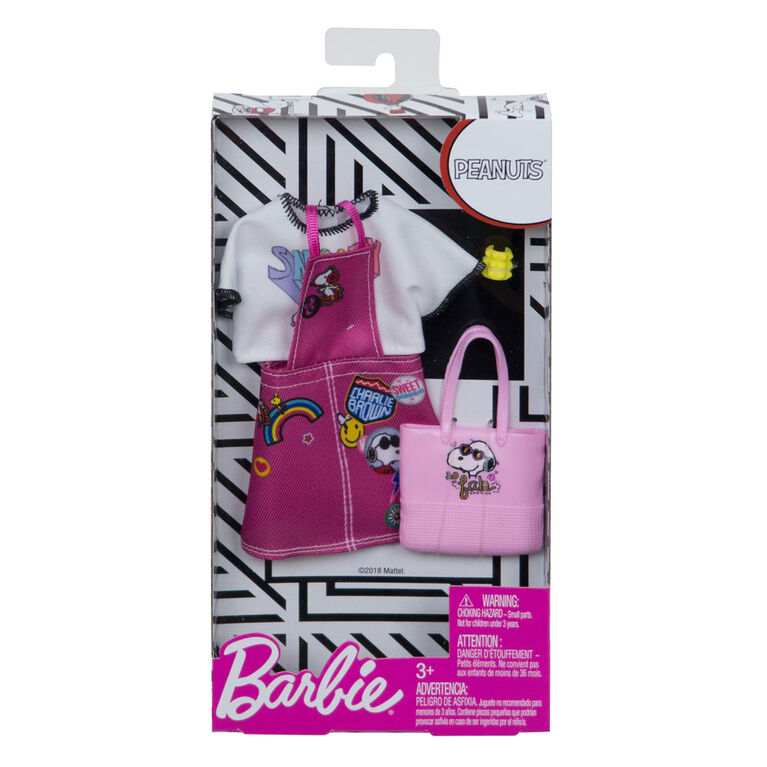 Barbie Peanuts Dress & Shirt Fashion Pack