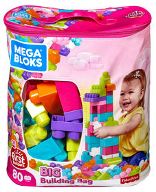 Mega Bloks - First Builders - Big Building Bag (Pink)