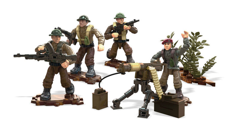 Mega Construx Call Of Duty Legends Allied Soldiers Set