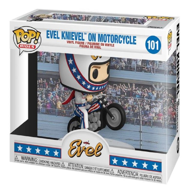 Funko POP! Rides:  Evel Knievel on Motorcycle