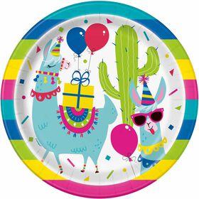 Llama Birthday Assiettes 9po, 8un
