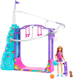 Barbie Team Stacie Extreme Sports Playset with Doll, Puppy, Gear and 5 Activities