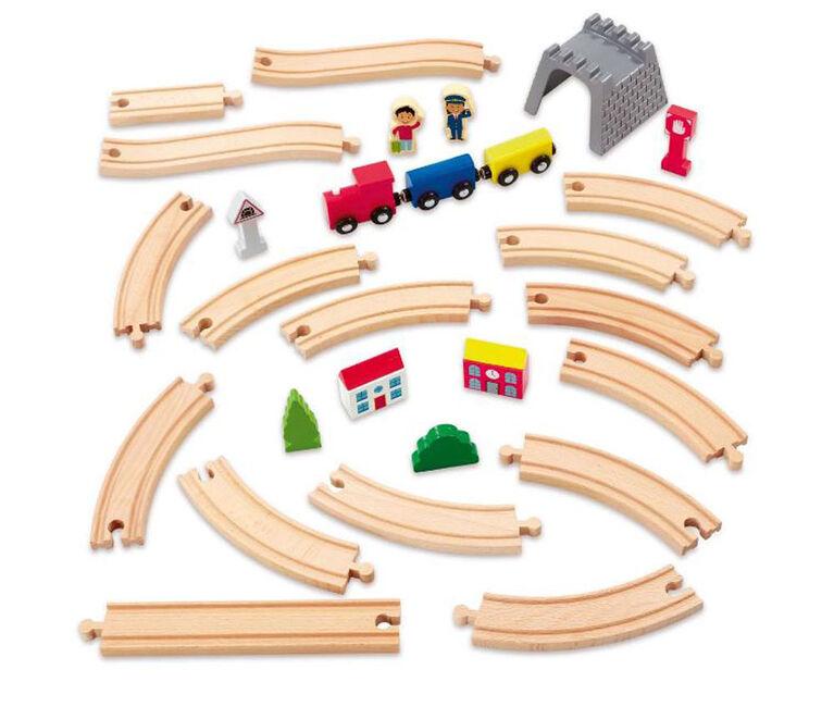 Woodlets 30 Piece Train Set - R Exclusive