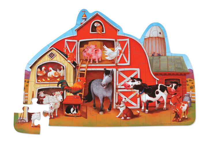 Crocodile Creek - Barnyard 30 PC Floor Puzzle