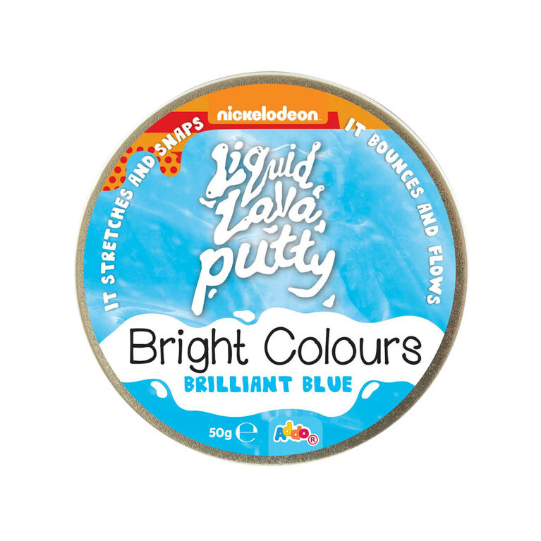 Nickelodeon - Pâte Liquid Lava Putty Bright Colours - Brilliant Blue (bleu) - Notre exclusivité - Édition anglaise