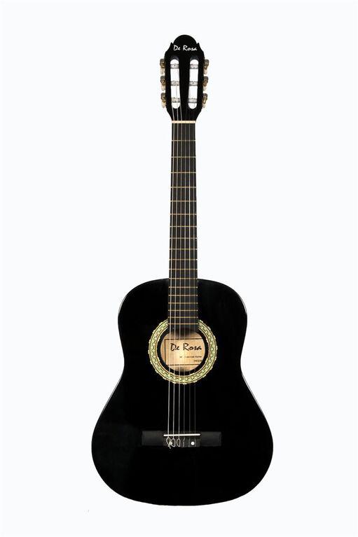 Bridgecraft De Rosa Junior Beginner Guitar with Accessories - Black