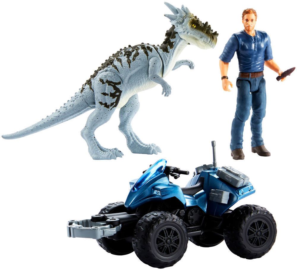 Mattel Jurassic World Dino Rivals OWEN OFF-ROAD TRACKER ATV DRACOREX IN STOCK