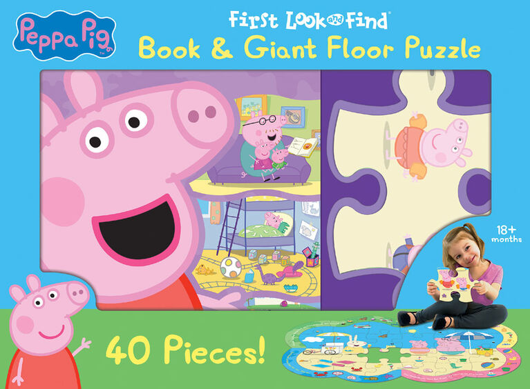 My First Look and Find Giant Puzzle - Peppa Pig - English Edition