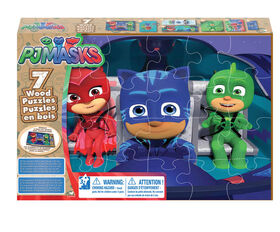 PJ Masks 7-Pack of Wood Puzzles