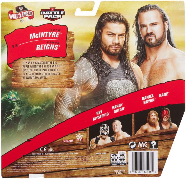WWE - WrestleMania - Pack 2 Figurines Drew McIntyre/Roman Reigns