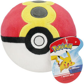 "Pokémon 4"" Pokeball Plush - Repeat Ball"