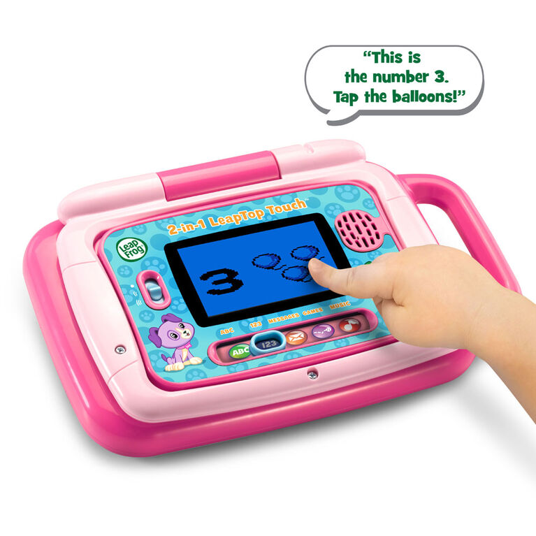 LeapFrog Ordi-tablette P'tit Genius Touch Rose - Édition Anglaise