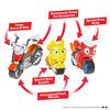 Ricky Zoom: Maxwell et les copains vélos Ensemble de 3 - Figurines d'action de 3 et 4 pouces - Vélos autonomes à roues libres - Notre exclusivité