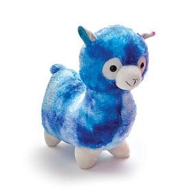 "Snuggle Buddies Adorable Alpaca 17"" Plush Blue"