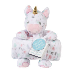 Baby's First By Nemcor 2 Piece Set- Cuddle And Play Unicorn