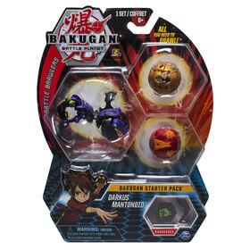 Bakugan Starter Pack 3-Pack, Darkus Mantonoid, Collectible Transforming Creatures