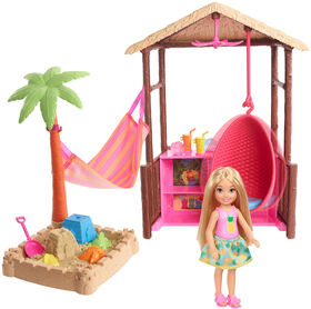 Barbie Travel Chelsea doll and Tiki Hut Playset