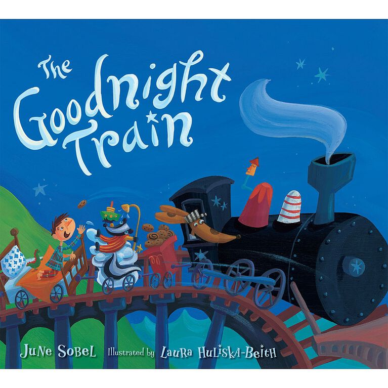 The Goodnight Train Board Book - English Edition