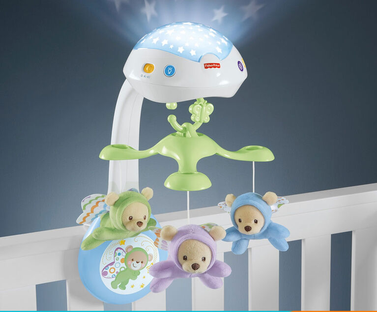 Fisher-Price - Mobile Oursons volants 3 en 1