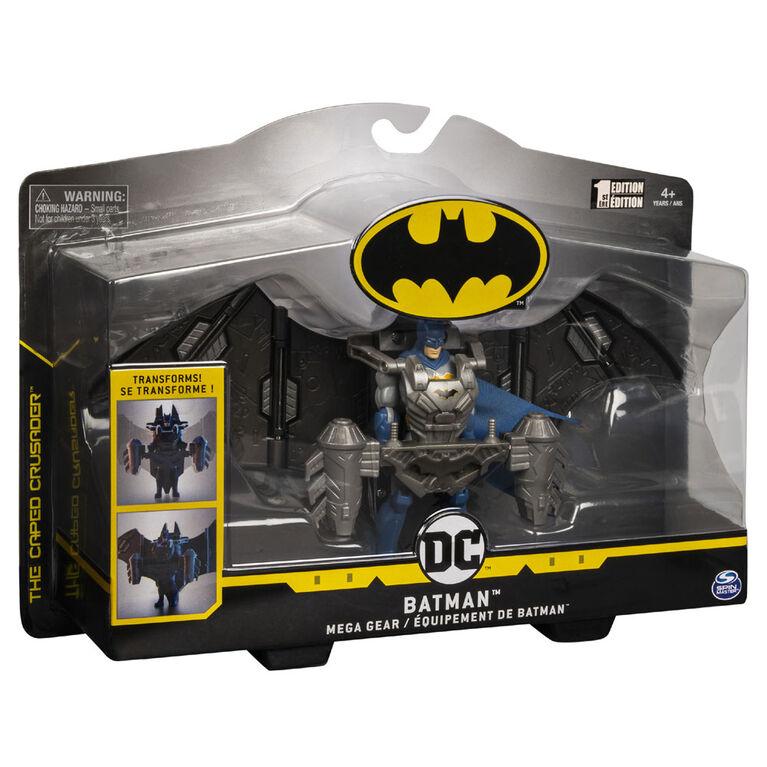 BATMAN, 4-Inch BATMAN Mega Gear Deluxe Action Figure with Transforming Armor