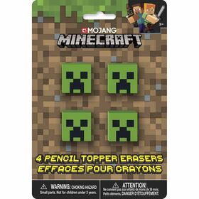 Minecraft Pencil Top Erasers 4