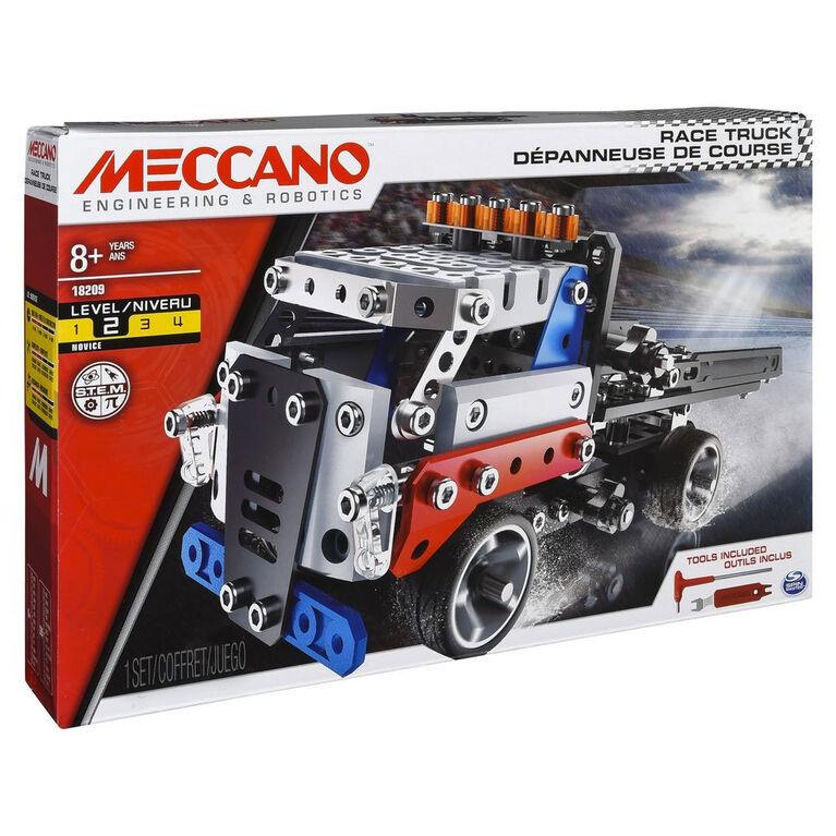 Meccano - Race Truck Model Vehicle Building Kit, STEM Construction Education Toy