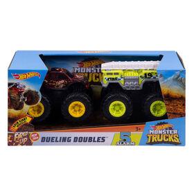 Hot Wheels - Monster Trucks - Échelle 1:43 - Dueling Doubles - Coffret De 2 Véhicules - N°2