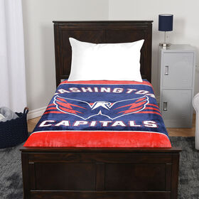 Couverture de velours luxe LNH - Washington Capitals