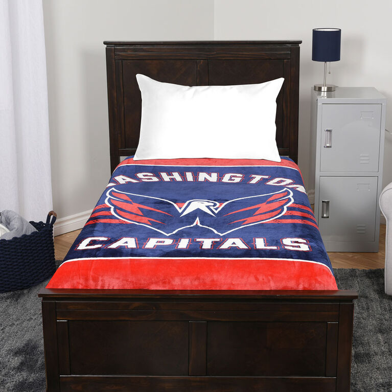 NHL Luxury Velour Blanket - Washington Capitals