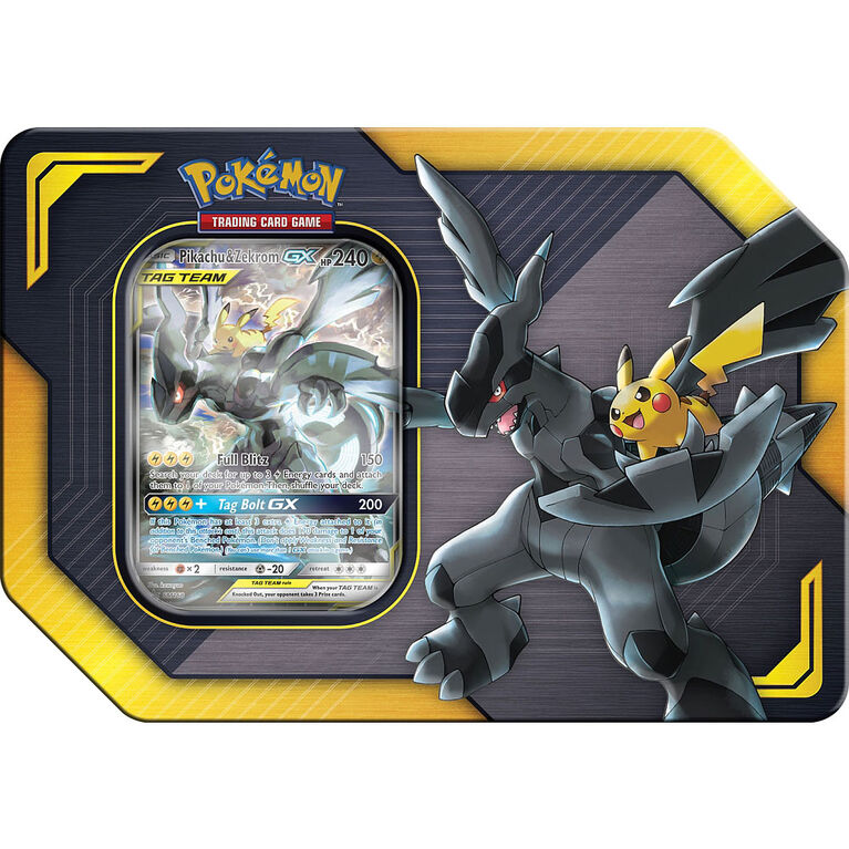 Coffret Escouade Pokemon Du Printemps 2019 Pikachu Zekrom Gx