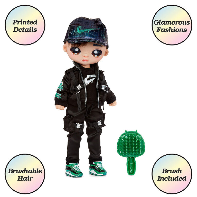 """Na Na Na Surprise Teens Fashion Doll - Parker Scorch, 11"""" Soft Fabric Boy Doll, Dragon Inspired"""