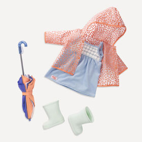 Our Generation, Brighten Up A Rainy Day, Rainy Day Outfit for 18-inch Dolls