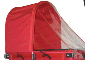 Millside Half Canopy with clear Weather shield for 20 inch x 38 inch wagon