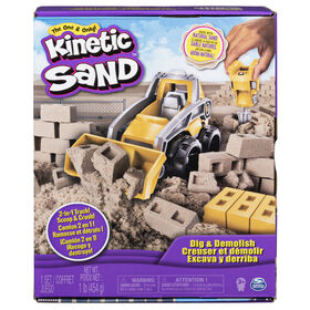 Kinetic Sand, Dig & Demolish Truck Playset with 1lb Kinetic Sand