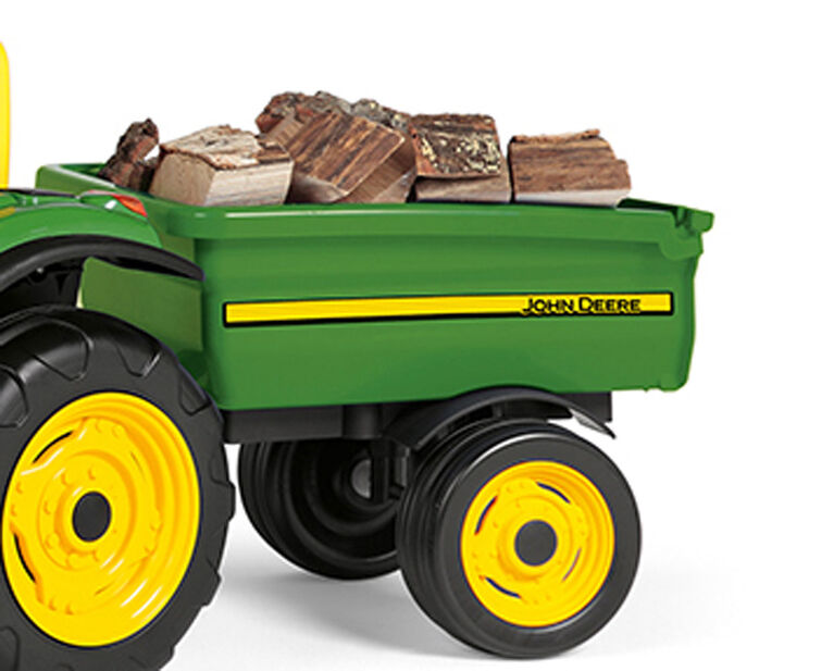 John Deere - 6V Power Pull Tractor with Trailer