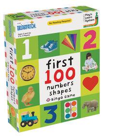 Les 100 premiers nombres, couleurs, formes Bingo - Édition anglaise