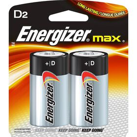 Energizer Max - D Batteries - 2 Pack