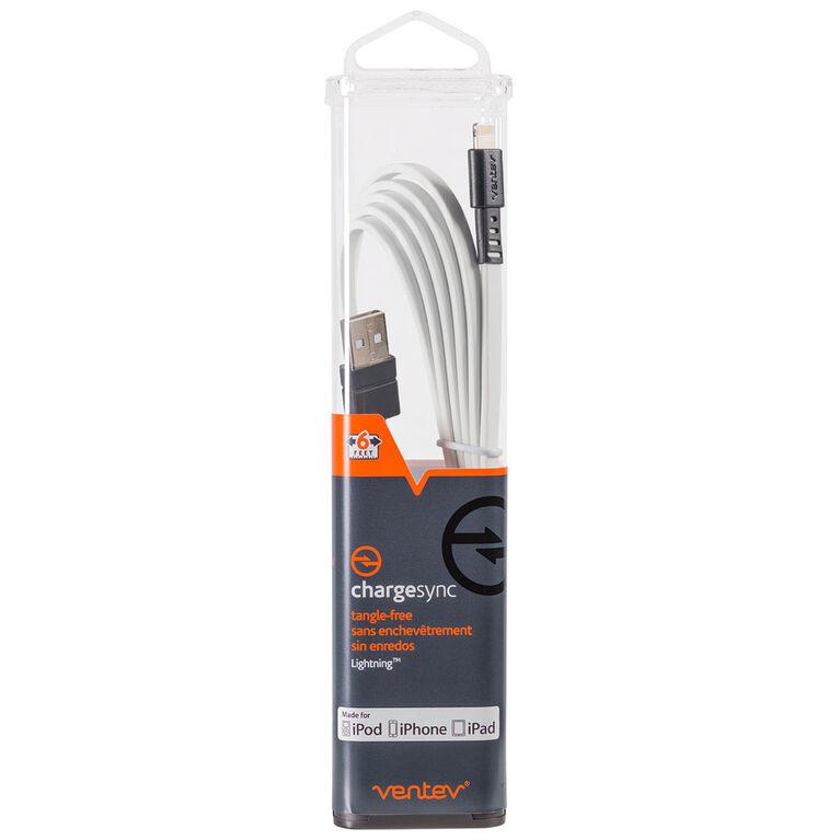 Ventev Câble de Charge/Sync Lightning 6ft Blanc