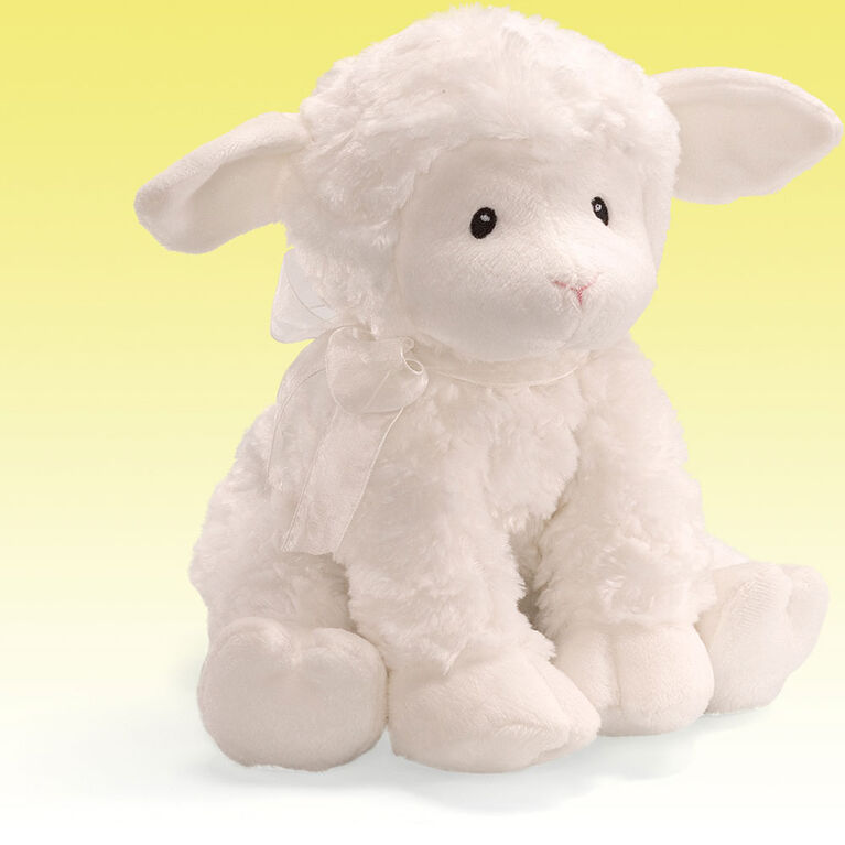 Baby GUND Lena Lamb Brahm's Lullaby Keywind Musical Sound Toy Plush Stuffed Animal, White, 10 Inch