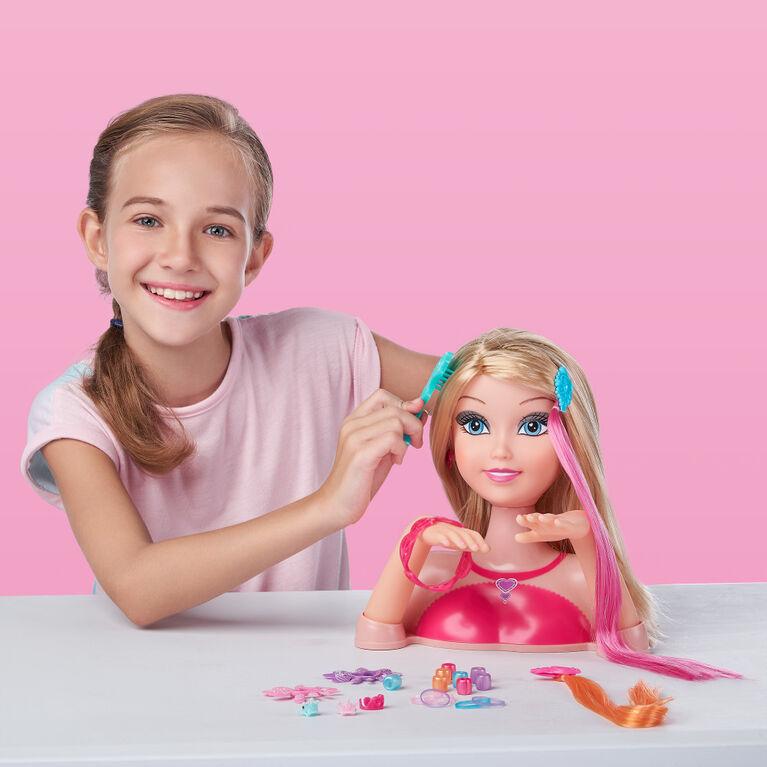 Sparkle Girlz Nail Design Hair Styling Head