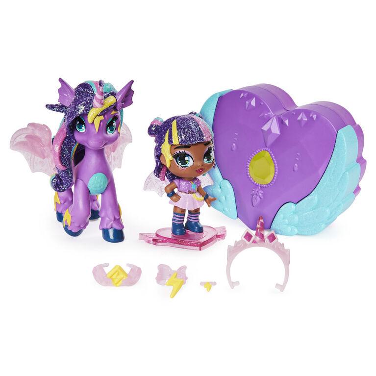 Hatchimals Pixies Riders, Coffret Hatchimal avec fée Moonlight Mia et sa monture Unicornix au caractéristique mystère