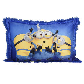 Despicable Me Minions Jumbo Funky Fur Pillow