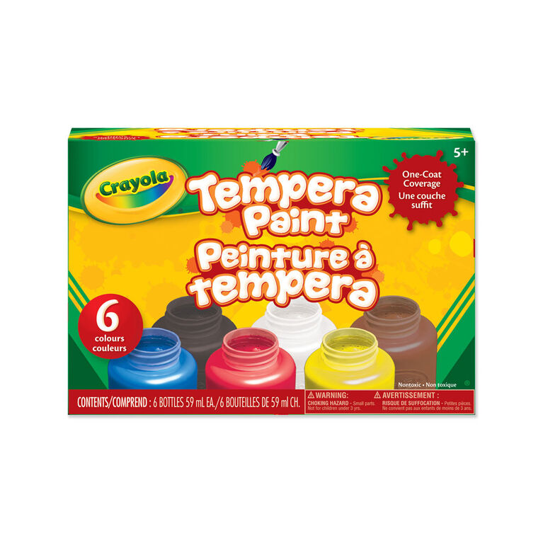 Crayola Tempera Paint, 6 Count