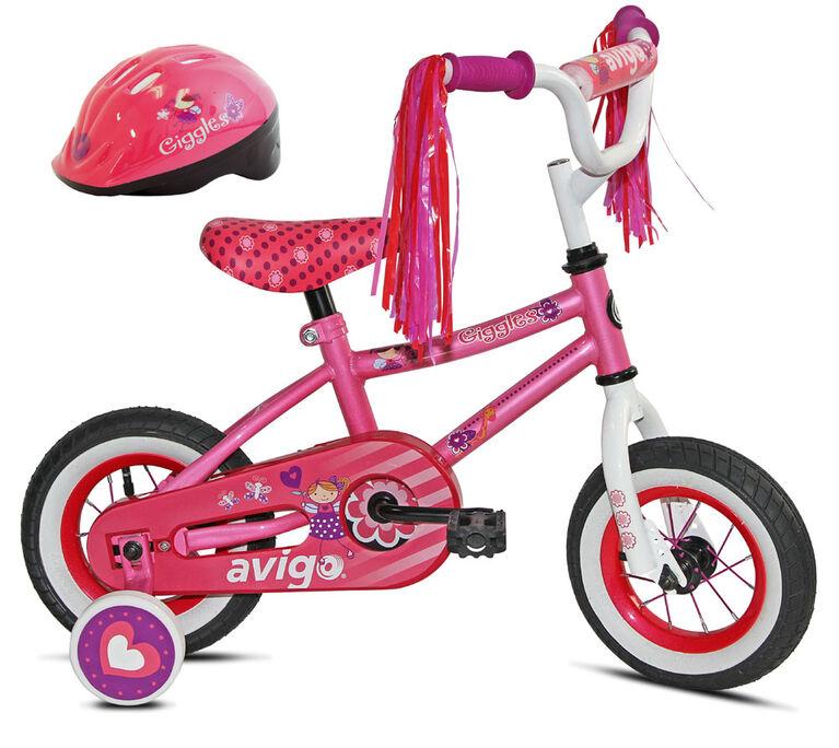Avigo Giggles with Helmet - 10 inch Bike