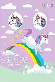 GabbaGoods Earbuds -Unicorn White